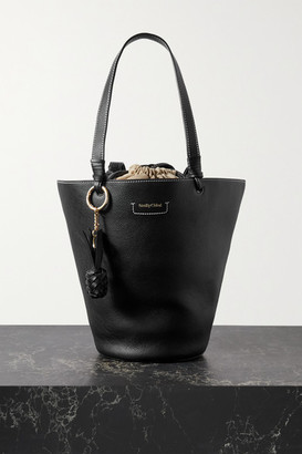 See by Chloe Cecilya Medium Textured-leather Bucket Bag - Black