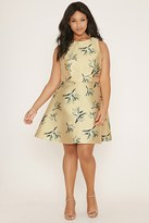Forever 21 FOREVER 21+ Plus Size Floral A-Line Skirt