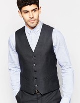 Selected Stretch Skinny Check Vest