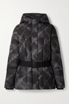 Varley Dowlen Hooded Tie-dyed Quilted Down Ski Jacket - Black