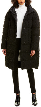 Moncler 1952 + Valextra Wool-Blend Down Coat
