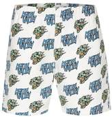 Topman PRESENTS: FELICITY MARSHALL White Skull Motif Pull On Shorts