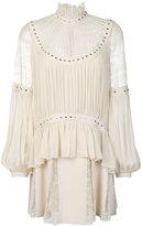 Elie Saab heart studded lace dress