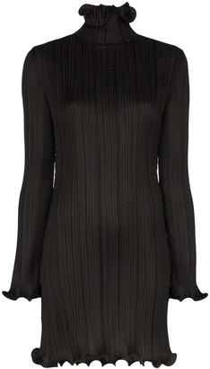 Givenchy plissé ruffle-trim dress