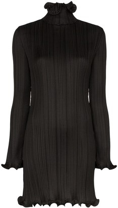Givenchy Plisse Ruffle-Trim Dress