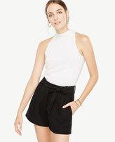 Ann Taylor Petite Fluid Tie Waist Shorts