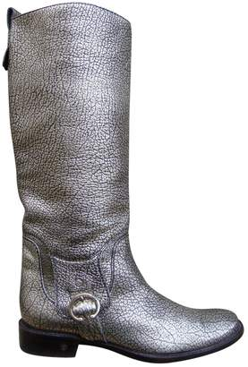 Celine \N Silver Leather Boots