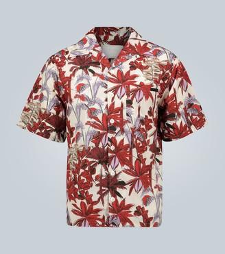 Prada Palms print short-sleeved shirt