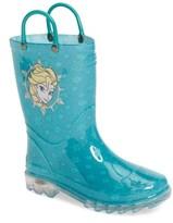 Western Chief Girl's Disney Frozen Icy Elsa Waterproof Rain Boot