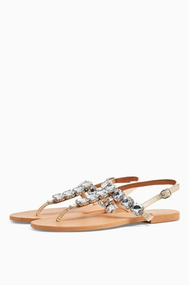 Topshop PARIS Leather Jewel Sandals