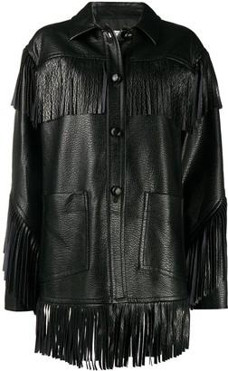 Philosophy di Lorenzo Serafini Fringed Leather Look Jacket
