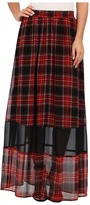 BCBGeneration Plaid Maxi Skirt VSU3F059