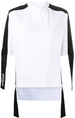 Palm Angels Contrasting Panel Detail Shirt