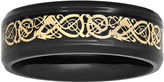 Celtic MODERN BRIDE Mens Two-Tone Dragon 8mm Wedding Band