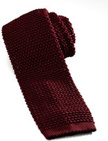Charvet Knit Silk Tie, Dark Red