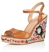 Kate Spade Jardin Embroidered Platform Wedge Sandals