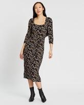 Dorothy Perkins 3/4 Sleeve Jersey Midi Dress