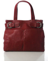 Christopher Kon Red Leather Tote Handbag Size Medium