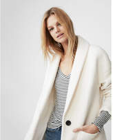Express wool cocoon coat