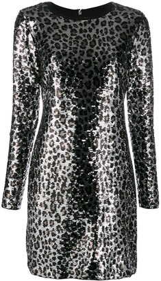MICHAEL Michael Kors sequin embroidered party dress