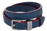 Louis Vuitton Navy Leather Infini Loop It Bracelet.