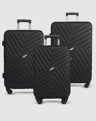 Jett Black Black Maze Luggage Set