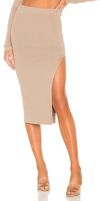 Cotton Citizen x REVOLVE Melbourne Midi Skirt With Slit