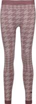 adidas by Stella McCartney Houndstooth stretch-jersey leggings