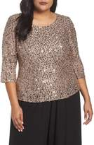 Alex Evenings Sequin Top