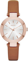 DKNY Women's Stanhope Brown Leather Strap Watch 28mm NY2415
