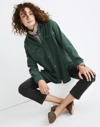 Madewell Flannel Flap-Pocket Oversized Ex-Boyfriend Shirt