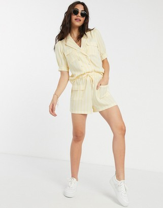 Fashion Union loose shorts in stripe two-piece