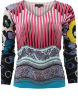 Etro Striped Paisley Pullover Top