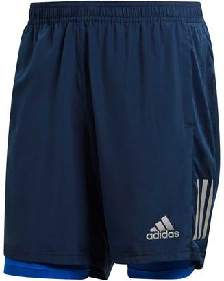 adidas Mens Own The Run 2 in 1 Running Shorts