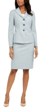 Le Suit Melange Skirt Suit