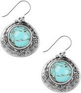 Lucky Brand Earrings, Silver-Tone Turquoise Drop Earrings