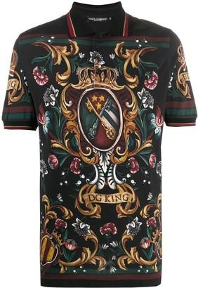 Dolce & Gabbana King polo shirt