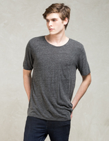 Nudie Jeans Grey S/S Roundneck Pocket T-shirt