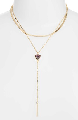 Halogen Layered Snake Chain Drusy Y-Nk