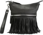 Diesel Black Gold studded fringe clutch