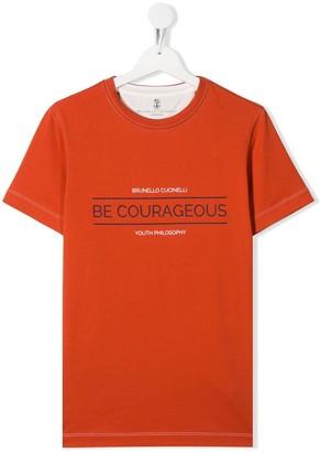 BRUNELLO CUCINELLI KIDS TEEN Be Courageous T-shirt