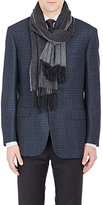 Barneys New York Men's Reversible Cashmere Scarf-GREY