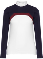 Cavalleria Toscana Frame Line Show Poplin-trimmed Stretch-jersey Top - White