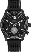 GUESS Men's Black Silicone Strap Watch 44mm U0971G1