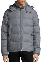 GUESS Wool-Blend Puffer Jacket