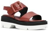 Dries Van Noten bela buckled sandals rust brown