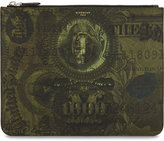 Givenchy Abstract Dollar Bill Zipped Pouch