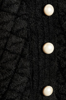 Alexander McQueen Embellished chenille-jacquard peplum top