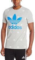 adidas Men's 3 Stripe All Over Print Tee
