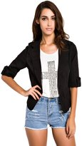 ACHICGIRL Women Lovely Slim Blazer One Button Short Suit Casual Blazer Outerwear